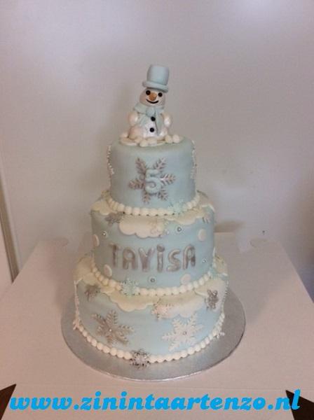 sneeuwpop taart